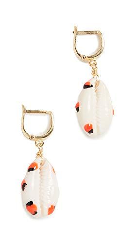 Maison Irem Women's Shelly Orange Dot Earrings, Orange Dot, One Size