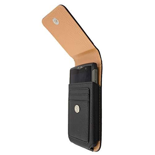 caseroxx Handy Tasche Outdoor Tasche für RugGear RG730, mit drehbarem Gürtelclip in schwarz