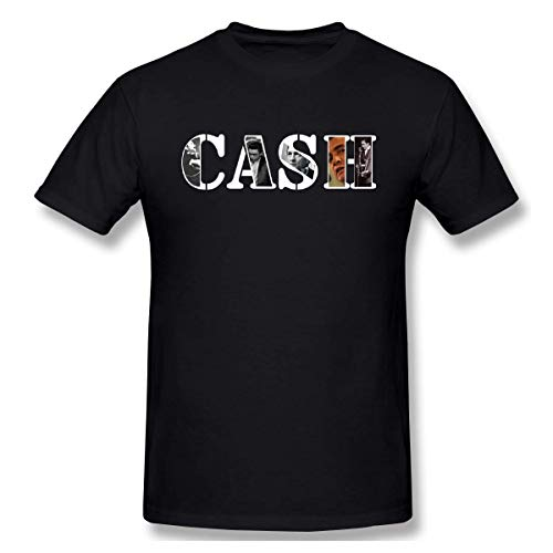 GSBTX® Men's Johnny Cash American Legend Cozy T-Shirt Cotton Black