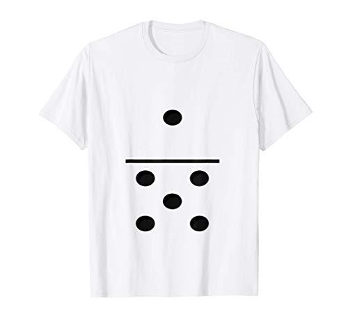 Juego de domin 1-5 - Traje de grupos divertidos Camiseta
