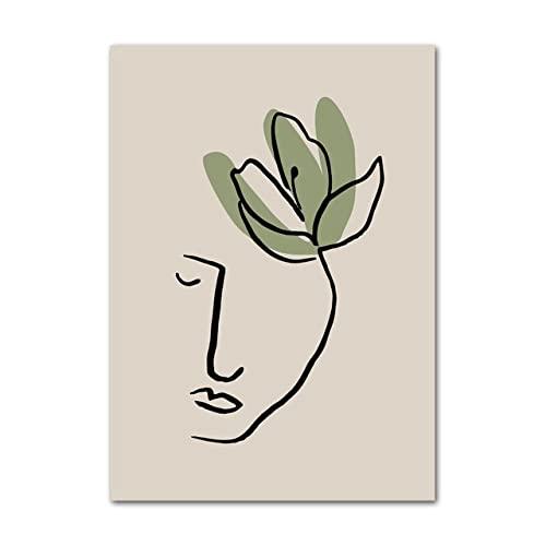 Carteles e impresiones nórdicos minimalistas bohemios de hoja de Matisse abstractos arte de pared lienzo pintura cuadros de pared para decoración de sala de estar I 30X40cm