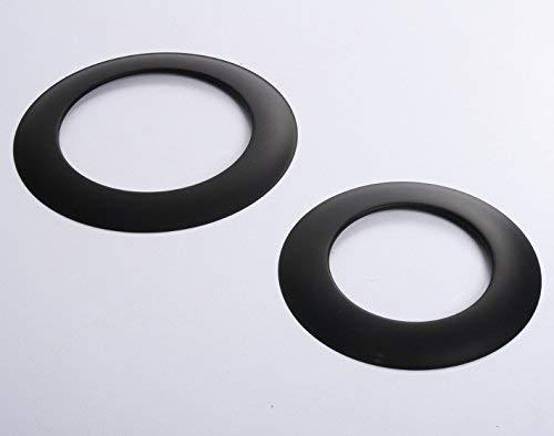 Rosette Wandrosette Schwarz für Ofenrohre Kamin Blende Schornstein Rauchrohr 4 Größen (Ø 180) von rg-vertrieb