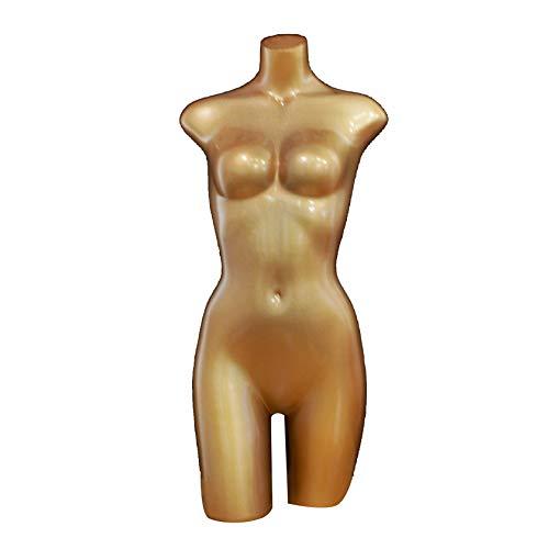 XJBHRB Busto de exhibición de maniquí de Forma de Vestido de Torso Masculino, Forma de maniquí de Cuerpo de Torso Masculino, con Soporte de Piso de Metal, para Trajes de baño, Moda y Tiendas
