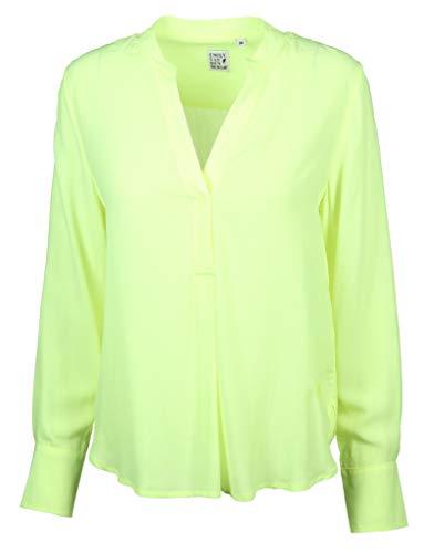 Emily van den Bergh Damen Bluse Größe 38 EU Gelb (gelb)
