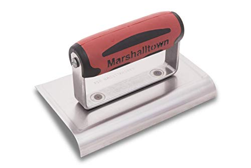 MARSHALLTOWN Concrete Edger 6 X 4 Curved Ends 1/2R 5/8L Handle