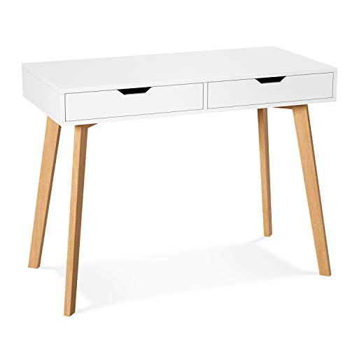 Homfa Computer Desk Study Writing Table with Drawers Laptop Desk...