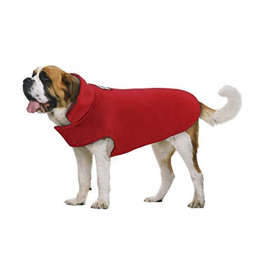 TFENG Hundejacke für Hunde, Wasserdicht Hundemantel gepolstert Puffer Weste Welpen (Rot, Größe 3XL)