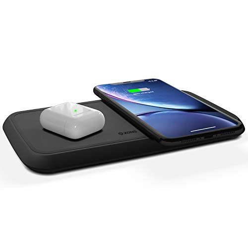 Zens Dual Fast Wireless Charger Ladegerät, schwarz