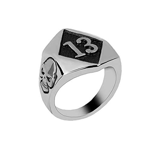 Anillo de uñas vintage Anillos de dedo Punk Slull Diamond Forma Forma Joyería fresca para hombres Boys Regalos Presentes (Plata) Utilidad