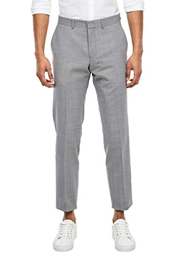 s.Oliver Herren 02.899.73.5452 Hose lang Anzughose, Light Grey dots, W(Herstellergröße: 52)
