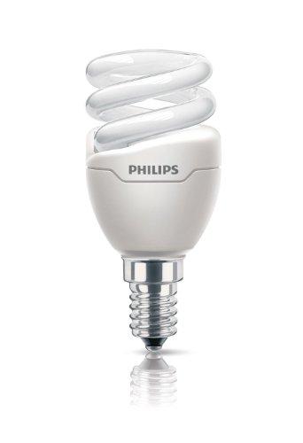 Philips Ampoule FluoCompacte Spirale Culot E14 5 Watts Consommés Équivalence Incandescence : 30W