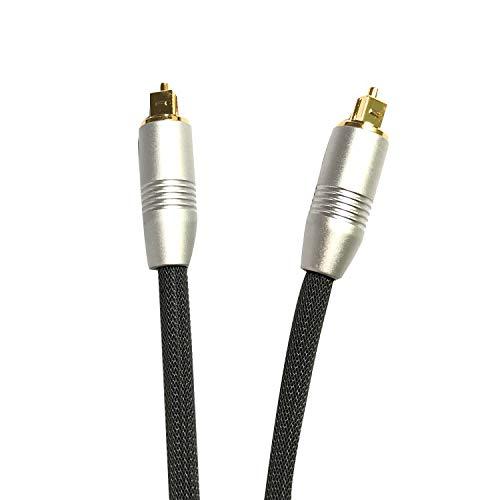 LanLink Cables de Audio de Fibra óptica Digital 24K Glod Plateado Metal...