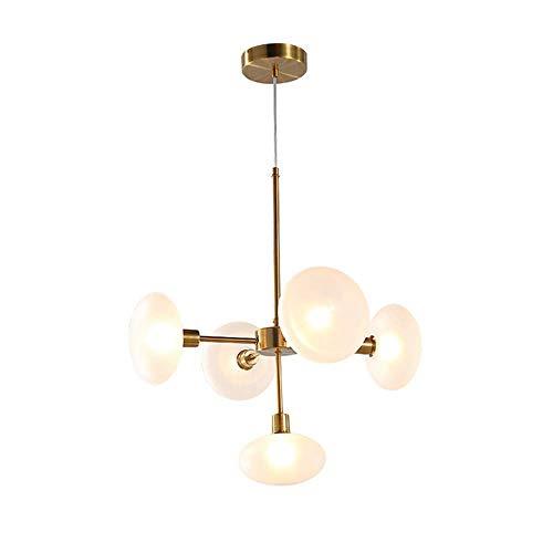 LLLKKK . Sputnik - Lámpara colgante nórdica, de hierro forjado, 5 luces, para salón, restaurante, dormitorio, lámpara de techo, base G9, 110-240 V