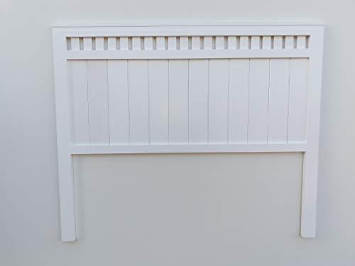 Muebles pejecar cabecero Modelo Bora para Cama de 135 Fabricado en Madera Maciza de Pino insigni Acabado en Blanco Satinado