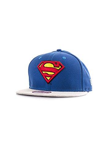 New Era Jersey Team Snap Supman Bazgra - Casquette Ligne Superman pour Homme, Couleur Bleu, Taille M-L