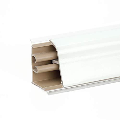 DQ-PP 2,5m + 0,5m GRATIS WINKELLEISTE | Weiss | 37 x 24mm | PVC | GRATIS Schrauben | Küchenleiste Arbeitsplatte Abschlussleiste Leiste Küche Küchenabschlussleiste Wandabschlussleiste