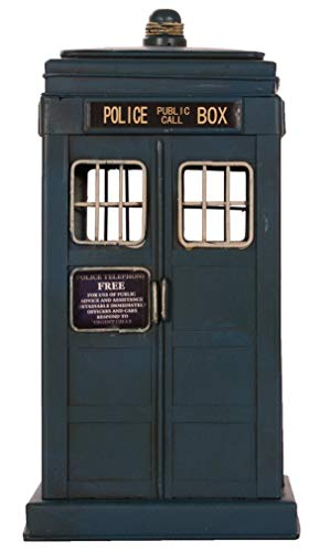 MG Spardose London Police Box Metall Antikoptik
