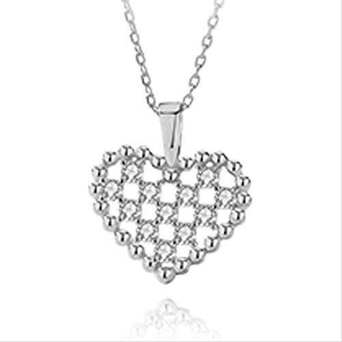 ZHIFUBA Co.,Ltd Collar de Moda con Personalidad Creativa, Collar de corazón romántico, Collar de Cadena de clavícula Ajustable a la Moda para Mujer, Regalo