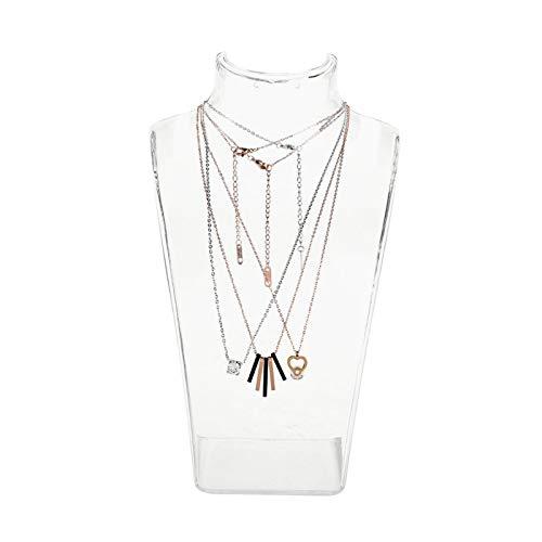 Accesorios de joyas para collares, expositores y almacenamiento, bandeja para joyas, como regalo para mujer o niña, transparente, soporte para joyas para colgantes y collares