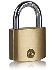 Yale Y110B/40/122/1 - Pirinç Asma Kilit 40mm - Standart Koruma - Sertleştirilmiş Çelik Halka - Çift Kilitleme - 3 Anahtar