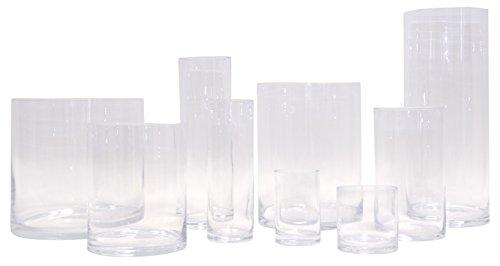 Glas-Vase Verschiedene Größen | Gross & klein | zylindrisch | wunderschön als runde Blumenvase | Zylinder auch als Windlicht Deko mit Kerze einsetzbar | klar | Varia Living (Ø 20 cm | H 25,5 cm)
