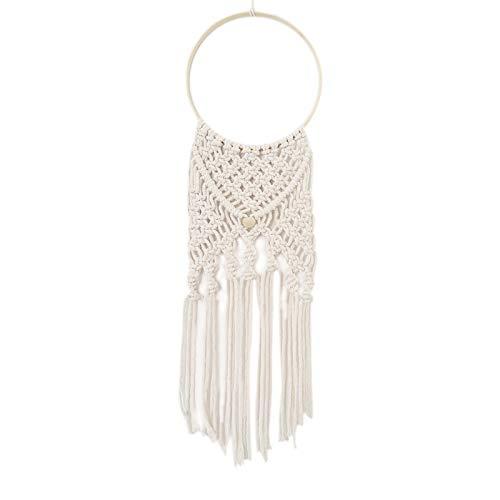 Atrapasueños largo borlas cuerda de algodón tejida a mano colgante redondo atrapasueños para decoración de hogar oficina