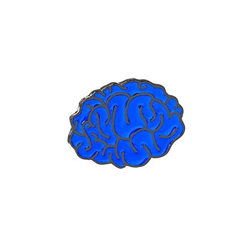 Órgano médico estetoscopio broches pines corazón diente cerebro insignias de ojo para Doctor enfermera dentista joyería chaquetas esmaltadas Collar Pin-cerebro