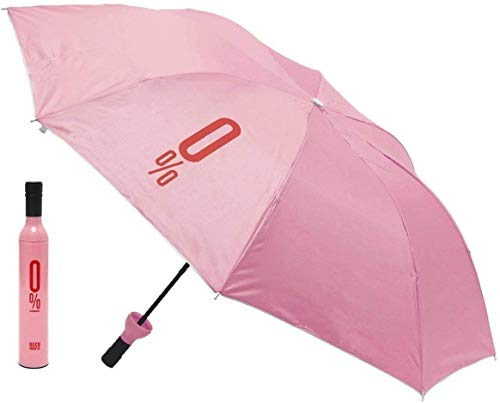 Parteet Bottle Umbrella 110 cm Travel Umbrella/Folding Portable Umbrella (Color May Vary)