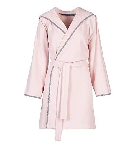 Jalla Happy Peignoir à capuche en microfibre 100 % éponge de pur coton absorbant pour homme et femme - Rose - XL