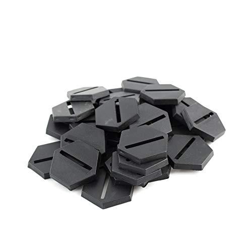 War World Gaming - Peanas Hexagonal de plástico 25mm con Ranura (Elige cantidad) - Wargames Históricos, Wargaming, Base, Escenografía, Miniaturas, Dioramas, Figuras, RPG