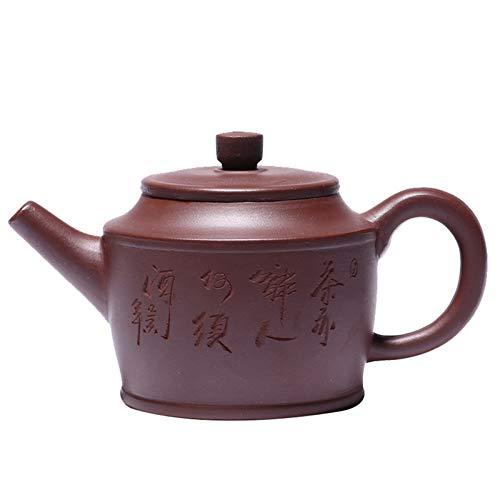 NSSQ Vieja Tetera de Arcilla púrpura con Letras a Mano Zen Tea Ceremonia de té Bell Tómalo 1 Paquete (Color : As Shown)