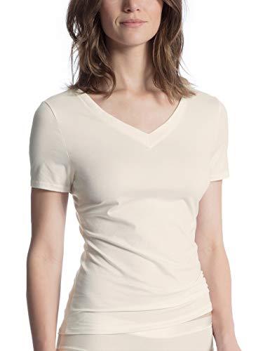 CALIDA Damen Cate Unterhemd, Elfenbein (Alabaster Crème 911), 44 (Herstellergröße: M)