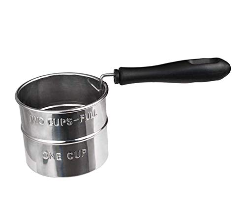 UgyDuky Small Hand Flour Sifter Fine Mesh Strainer Sieve for Kitchen Cooking Baking, Stainless Steel, 2-Cup Capacity