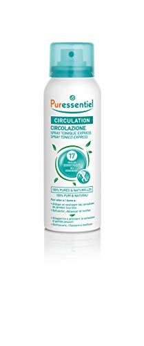 Puressentiel - Circulation - Spray Tonique Express aux 17 Huiles Essentielles - 100% pures et naturelles - Aide à soulager les sensations de jambes lourdes - 100 ml