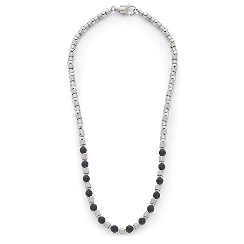 Leonardo Jewels Damen Herren Halskette Men Palermo Edelstahl silber 50 cm 016426