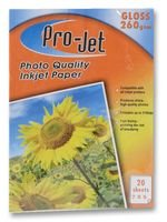 Best Price Square Paper, Photo, 7X5, Gloss, 260G, X20 Projet G2607520 by Projet