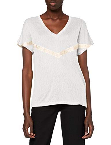 Only ONYRITA S S/S Preppy Top JRS Camiseta, Cloud Dancer,