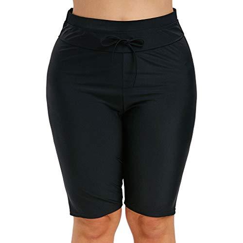 Asalinao Sportswear-Strumpfhosen Leggings für Damen Frauen-hohe Taillen-elastische Schnürung Plus Größen-Feste Sport-Hosen-Yoga-Kurzschlüsse