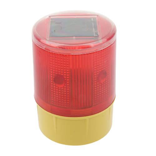 joyMerit Luz Estroboscópica de Luz de Advertencia de Baliza Intermitente con Energía Solar, Luces Rojas, 3,7 V, Seguridad