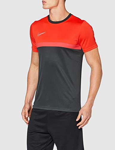NIKE Academy Pro SS Top para Hombre, Hombre, Camiseta, BV6926-079, Antracita/Carmesí Brillante/Carmesí...
