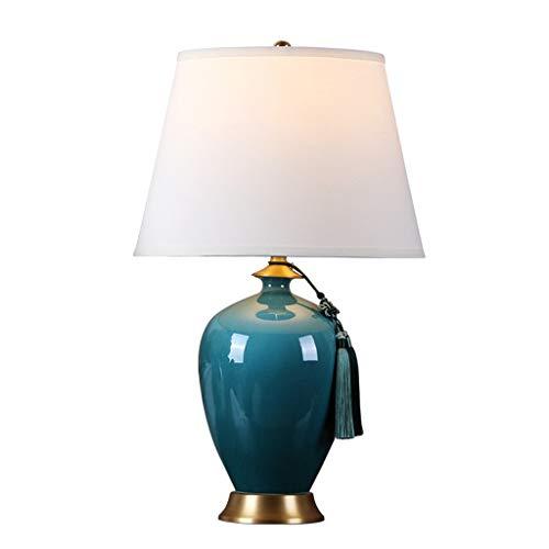 JJZXD Nueva lámpara de Mesa China Americana Dormitorio Sala de Estar de la Cama Club Hall Entrada Villa Hotel Decorativo cerámica
