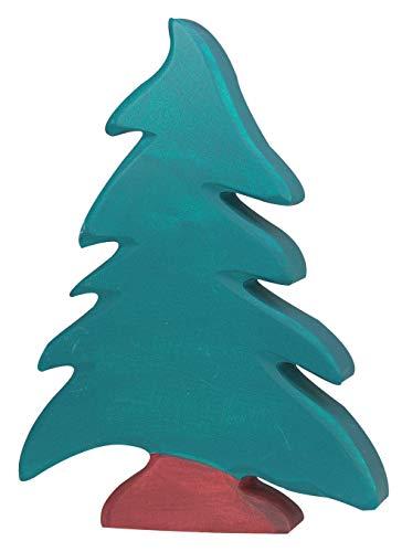 cama24com Tanne Fichte Nadelbaum Holzbaum Holzspielzeug von Holztiger Holzfiguren mit Palandi® Sticker