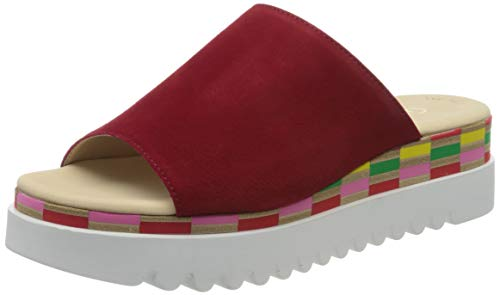 Gabor Shoes Gabor Casual, Mules Femme, Rouge (Rubin (Multic.) 15), 42 EU