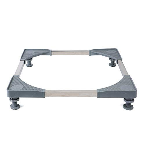 DJY-JY Multifuncional Base Ajustable móvil con 4 Fuerte pies de tamaño Ajustable Caja móvil Universal Rodillo Dolly for Secadora, Lavadora y Nevera, Gris