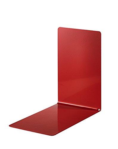 Alco 4301-12 - Reggilibri in metallo, 85 x 140 x 140 mm, 2 pezzi, colore: rosso