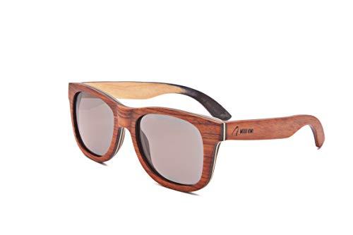 Wood Kiwi: Flying Fox - Gafas de sol de madera polarizadas UV400 unisex