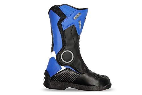 Kimo Kinder Motorradstiefel Protect Boots (Blau, 32)