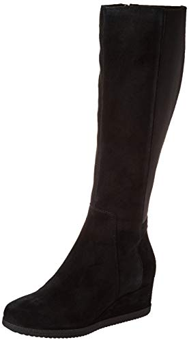 Geox Damen D ANYLLA Wedge I Knee High Boot, Black, 39 EU