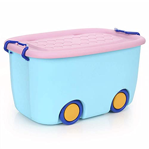 Plastic storage boxes, large cartoon storage boxes on wheels with lid sundries storage baskets, cosmetic storage boxes
