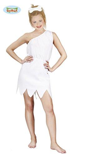 Guirca- Costume Cavernicola Wilma Flintstones Donna, Colore Bianco, 80819